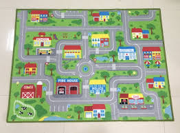 Kids Play Room Rug Car Area City Map Rug Children S Fun Area Rug Activity Room Extra Large Size For Kids Bedroom Community Mat Carpet Aliexpress