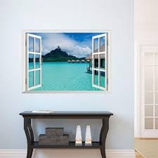 3d Sticker For Beach Landscape Fake Window Home Decal Wall Sticker Sale Price Reviews Gearbest