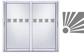 Safety Diy Etched Glass Vinyl Privacy Film Glass Door Decals Sliding D