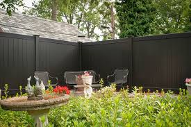 Black Vinyl Pvc Privacy Fencing Panels From Illusions Vinyl Fence Traditional Garden New York By Illusions Vinyl Fence Houzz Uk