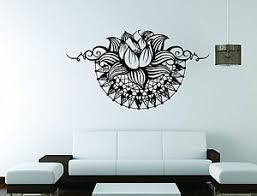 Lotus Ganesha Wall Mural Vinyl Decal Sticker Decor Hindi Yoga Flower Ebay