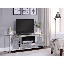 home acme furniture mirror tv stand