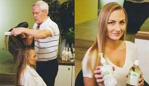 get shiny hair with apple cider vinegar