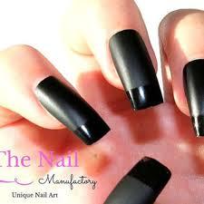 matte black nail polish with glossy