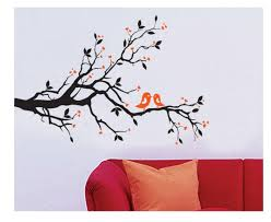 2 Cute Birds On The Tree Branch Wall Art Wall Sticker Decal Room Art Decal Kissing Birds Cling Wall Decals Clings For Walls From Magicforwall 2 9 Dhgate Com
