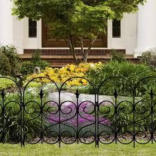 Origin Point Magnolia Classic Decorative Steel Landscape Border Fence Section Amazon Co Uk Garden Outdoors