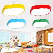 Modern Simple Led Pendant Light Cloud Lamp Creative Cartoon Lighting Kids Room Light Msxd084