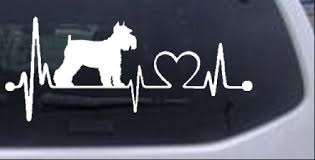 Schnauzer Heartbeat Lifeline Dog Car Or Truck Window Decal Sticker Rad Dezigns