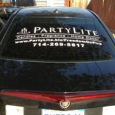 Party Lite Consultant Window Promotional Vinyl Decal Sticker Custom 36 X 13 5 Ebay