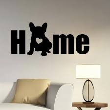 Dog Silhouette Vinyl Wall Decal French Bulldog Diy Wall Sticker Pet Room Decoration Sticker Removeable Wall Art Decals Y122 Wall Stickers Aliexpress