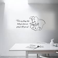 Amazon Com Wall Sticker Quotes Dumbo Quote Vinyl Wall Decal The Very Wall Sticker Baby Girl Boy Custom Kids Room Art Bedroom Nursery Poster Decor Mural Kitchen Dining