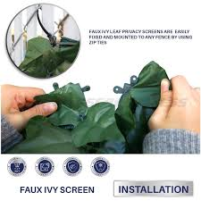 Windscreen4less Windscreen4less Artificial Faux Ivy Leaf Privacy Fence Screen Decoration Panels Windscreen Patio
