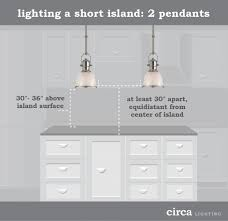 pendant lights over an island