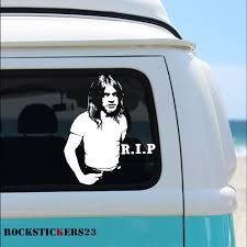 Malcolm Young Vinyl Portrait Stickers Guitar Car Laptop Ac Dc Rockstickers On Artfire
