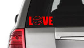 Love Basketball Window Decal Basketball Window Decal Love Etsy