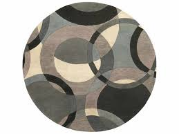 round khaki teal charcoal area rug