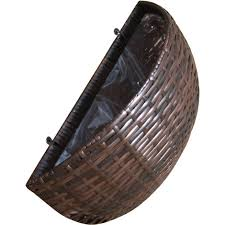 rattan hand woven oval hanging wall