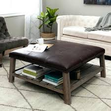 red ottoman coffee table