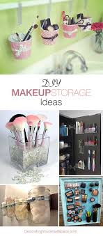 diy makeup organization ideas