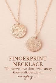 actual fingerprint necklace engraved