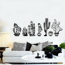 Cactus Vinyl Wall Decal Cactus Collection Plant Desert Window Sticker Nature Flower Stickers Kids Room Baby Nursery Decor M54 Wall Stickers Aliexpress
