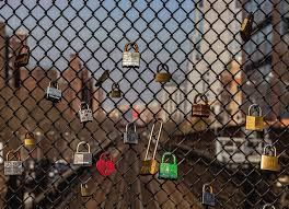 Locks And Chain Link Fence Photograph By Robert Ullmann