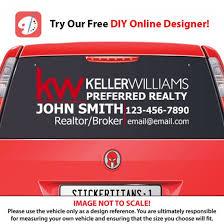 Keller Williams 1 Rear Glass Decal