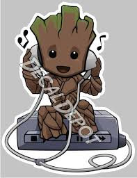 Guardians Of The Galaxy Baby Groot Vinyl Decal Etsy