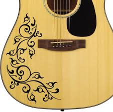 Designed To Fit All Types Of Acoustic Guitar Bodies Will Instantly Transform Your Ordinary Guitar To A Custom Gu Guitar Stickers Acoustic Guitar Guitar Design