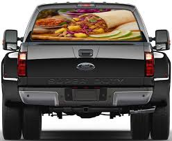 Mexican Food Burrito Taco Car Rear Window See Through Net Decal Decalz Co
