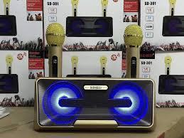 Loa SUB - Loa Bluetooth Karaoke SDRD SD-301+ Kèm 2 Mic Không Dây Mẫu Mới,  Phù Hợp Hát Karaoke Tại Nhà, Đi Phượt, Dã Ngoại Cực Kì Tiện Dụng , Chất  Lượng