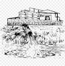 sketch water pollution drawi png image