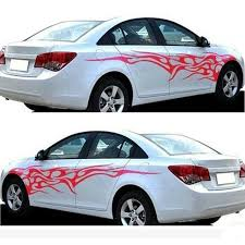 Car Decal Vinyl Graphics Two Side Stickers Black White 2pcs Black Red White Ebay