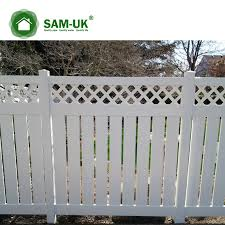 China 6 X 8 Modern Semi Private Vinyl Fence With Lattice Top China White Vinyl Privacy Fence White Vinyl Privacy Fencing