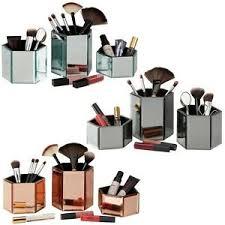 mirrored hexagon gl cosmetic storage