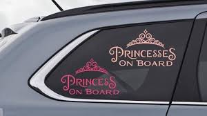 Princess On Board Or Princesses On Board Car Decal Sticker Etsy In 2020 Custom Vinyl Decal Car Decals Stickers Custom Window Stickers