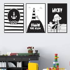 Follow Your Dream Brave Child Anchor Kid Room Nursery Canvas Painting Vintage Kraft Poster Wall Sticker Home Decor Family Gift Painting Calligraphy Aliexpress