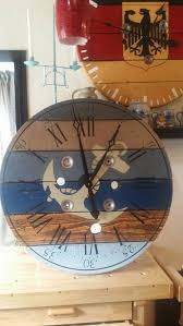 inch nautical cable wire spool clock