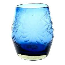 hand blown stemless wine glasses