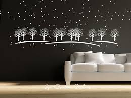 Forest Tree Decal Winter Wall Decal Winter Decor Christmas Etsy Wall Decals Forest Wall Decals Christmas Decals