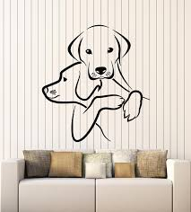 Vinyl Wall Decal Home Animals Pet Shop Grooming Puppy Dogs Stickers Mu Wallstickers4you