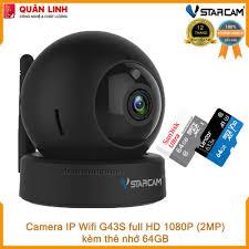 Camera giám sát IP Wifi hồng ngoại ban đêm Vstarcam G43S Full HD 1080P 2MP  kèm thẻ 64GB
