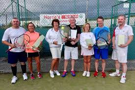 Ardfield Rathbarry Tennis Club - From left: Ian Steward, Hilary Bennett,  Ann O'Sullivan, Tom Scanlon, Elaine Connolly, Rob Diggin, Charlie McPeake,  absent, sadly, Niamh Leonard-O'Reilly | Facebook