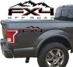 Amazon Com 2 X Black Red Gloss Fx4 Off Road 3d 2 Color Universal Truck Bed Vinyl Decal Automotive