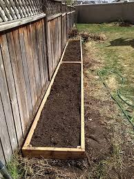 Vegetable Garden Along Fence Backyard Landscaping Landscaping Along Fence Backyard Landscaping Designs