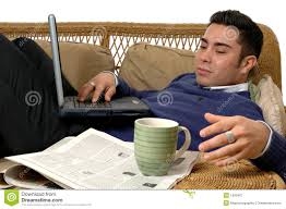 Couch Computing stock image. Image of technology, handsome - 1993407