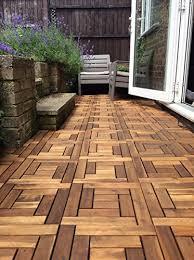 6x wooden interlocking acacia hardwood
