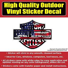 Harley Davidson Motorcycle Vinyl 4 Design Options Car Window Laptop Bu Colorado Sticker