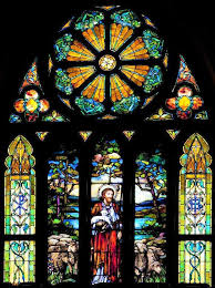 religious stained glass window clings
