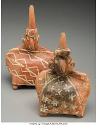 Two Nayarit Seated Figures Wearing Blankets... (Total: 2 Items) | Lot  #70515 | Heritage Auctions